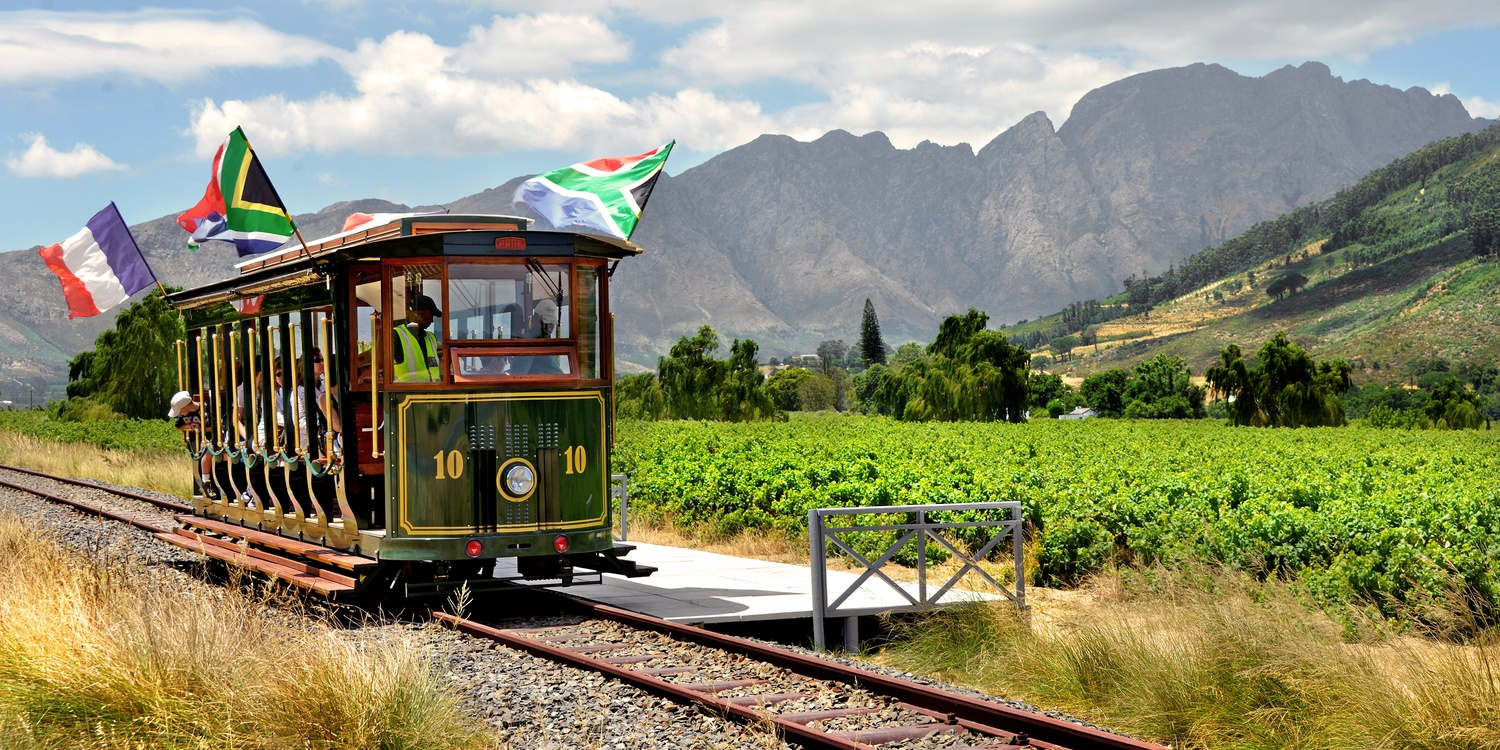 With the Franschhoek wine tram